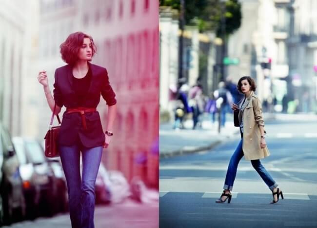 Quần Jean là item trong tủ đồ của mọi cô gái Pháp - Mặc đẹp như phụ nữ Pháp