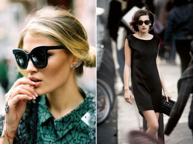 Kính râm màu đen giúp phái đẹp Pháp trở nên sang trọng và đẳng cấp