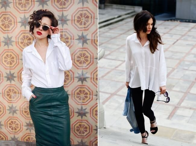 Sơ mi rộng được phụ nữ Pháp sử dụng thường xuyên - Mặc đẹp như phụ nữ Pháp