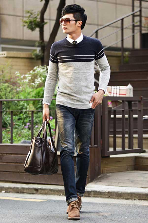 Cách phối màu cho quần áo cho nam khá đơn giản