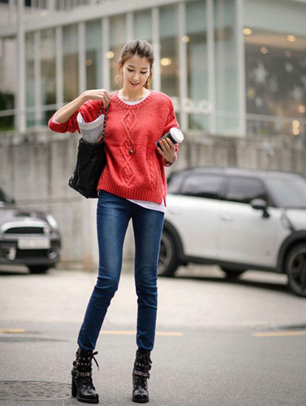 Quần jean giúp mùa đông thêm ấm áp