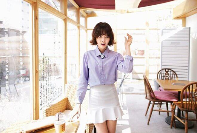 Kiểu váy có eo cao tăng chiều cao