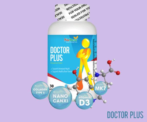 TPCN DOCTOR PLUS - sản phẩm tăng chiều cao được sản xuất tại Mỹ