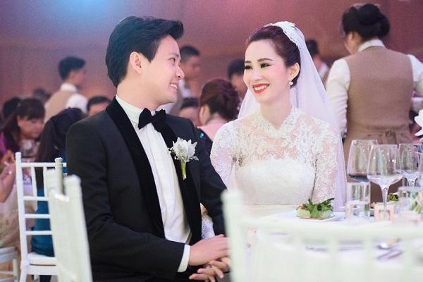 Hoa hậu Thu Thảo e ấp bên chồng trong ngày trọng đại