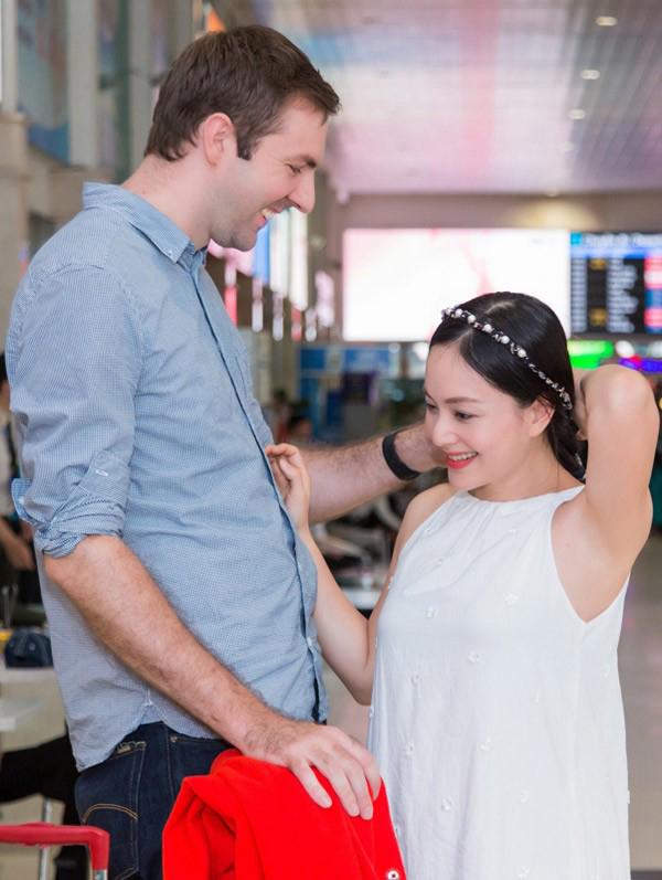 Khoảnh khắc của nữ diễn viên cùng với bạn trai