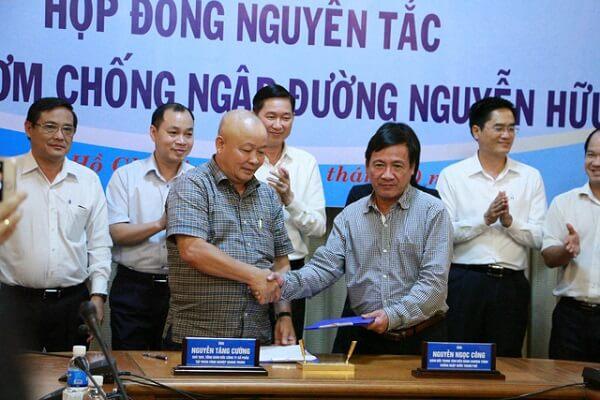 Lễ ký kết hợp đồng nguyên tắc thuê siêu máy bơm chống ngập cho đường Nguyễn Hữu Cảnh