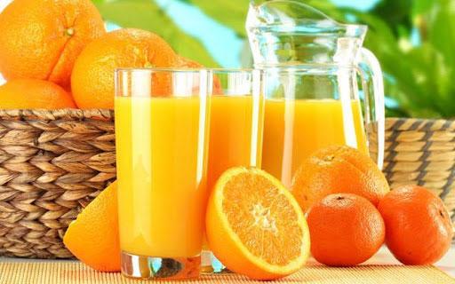 nước ép cam giúp phát triển chiều cao