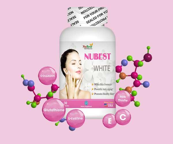 Sử dụng NUBEST WHITE thường xuyên làn da sẽ trắng sáng rạng rỡ