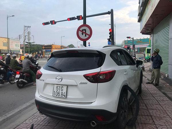 Chiếc ôtô gây tai nạn