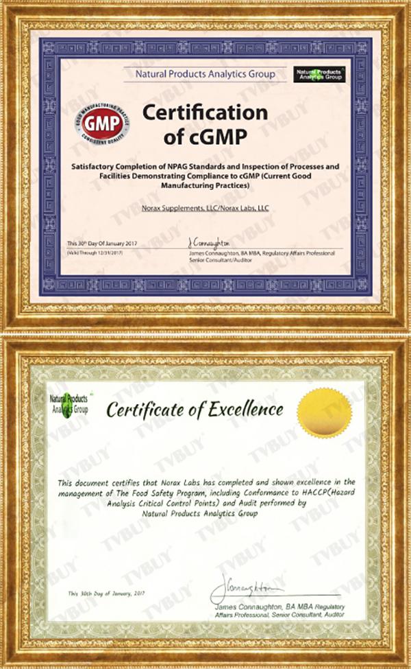 TPBVSK NuBest Tall đạt chứng nhận tiêu chuẩn quốc tế cGMP, HACCP